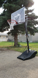 "Goliath 50"" portable basketball hoop"