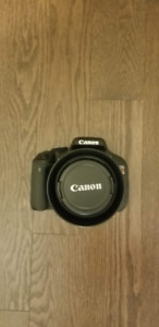 Canon T3i with Canon EF-S 18–55mm and accessories