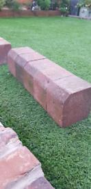 Block paving edge stones bricks