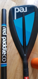 Red Carbon Composite stand up paddle board paddle