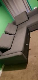Grey corner sofa bed Ikea Friheten with storage