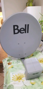 Bell Expresvu Dish and Quad LNB