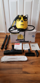 KARCHER SC1 STEAM CLEANER, INSTRUCTIONS, DECALCIFYING STRIPS INCLUDED