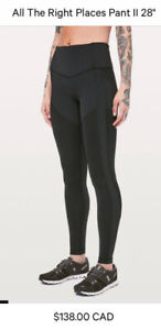 """New condition - LULULEMON ALL THE RIGHT PLACES 28"""" tight Size 2"""
