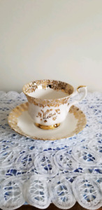 "Vintage Royal Albert Bone China ""Mother"" Cup and Saucer, England"