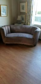 Danish Banana shaped sofa
