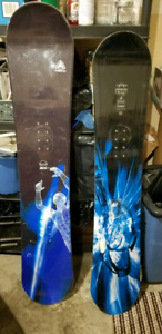 Firefly and Lamar Snowboards