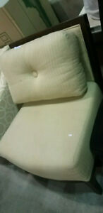 Off white wood frame accent chiar!show room furniture!SAVE!