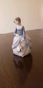Lladro Evita Girl with parasol figurine