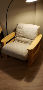 Matching Couch and Chair Futon beds for sale.