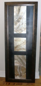 Bouclair Framed metallic wall decor ( 15 in by 39)