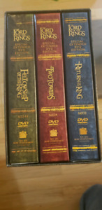 Lord of the rings 12 DVDs.