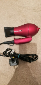 Babyliss Pro TT Travel Hair Dryer Tourmaline Titanium 1500