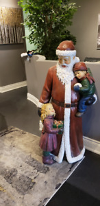 Large Santa Claus appr.  5 ft.  AS NEW, NO SAD FACES FOR XMAS!