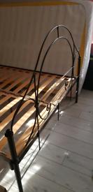 Vintage victorian scroll bed frame base kingsize