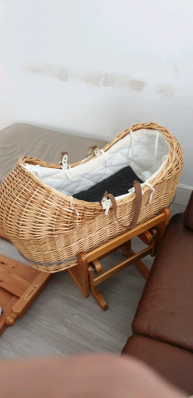 meilleures baskets 22d87 19d9b Mothercare Noah Pod Moses basket crib and wood GLIDING stand | in Barking,  London | Gumtree
