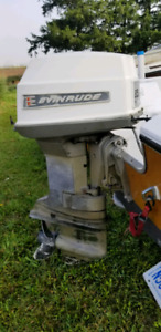 Evinrude 85hp, comes with controls