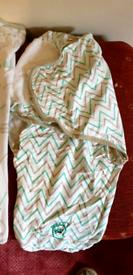 Baby Dew Swaddle Wraps Newborn x2