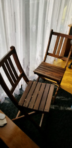 Wood holding compact chairs(set of two)