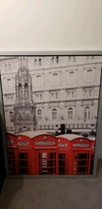 IKEA hanging picture - London telephone booths