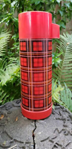 Vintage Plaid Aladdin Travel Thermos Bottle