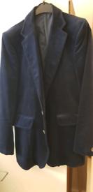 Vintage mens blue velvet jacket