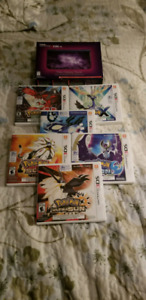 NEW 3Ds XL galaxy edition with pokemon games