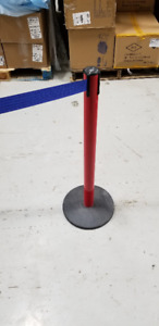 Tensator Crowd Control Stanchion Red Post with Blue Tape