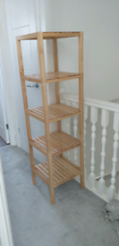 Ikea MOLGER birch shelving unit