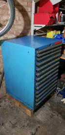Dexion workshop 10 drawer cabinet