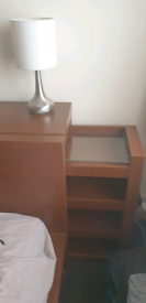 Malm ikea bed king size with extra bed top unit side draws