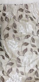 Satin, beige / ivory curtains