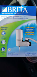 Brita water filter for sink faucet, chrome