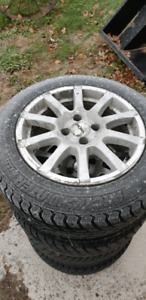 Winter Tires on Chevy Cobalt Aluminum Rims
