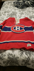 Selling my Montreal Canadiens old time hockey sweater.