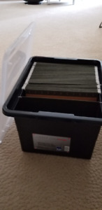 Letter/Legal File Tote, Black Base with Clear Lid