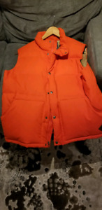 North face cook 550 fill down vest orange. Barely used. Mens