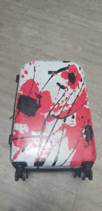 Pangborn Carry on Rolling Luggage Poppy Artwork
