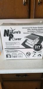iSolar solar powered attic fan
