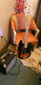 Squire bass and amp combo