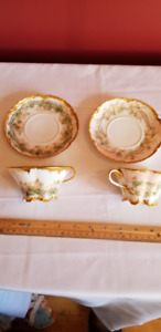 Hand Painted Limoges Cup and Saucers