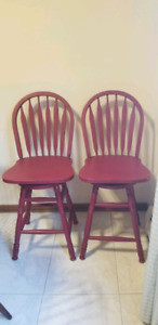 2 swivel bar hight chairs