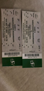 2 Roughriders Tickets for $70