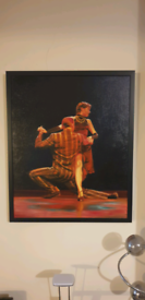 Trinidad Ball, 'Tango' Framed Oil on Canvass Painting. Art