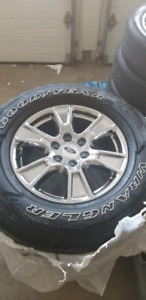 "2016 Ford F-150 18"" Rims and Tires Chrome Set"