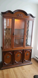 Vintage China Cabinet and matching Table