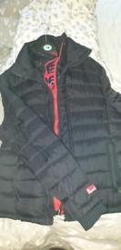 Mens superdry Black jacket as new 2xl
