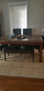 Dining  table and night table