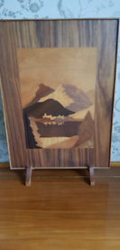Vintage Marquetry Fire Screen