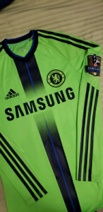 Chelsea FC Drogba alternate jersey with Champions League patches